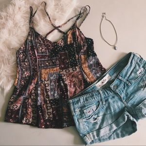 American Eagle Patterned Tank Top